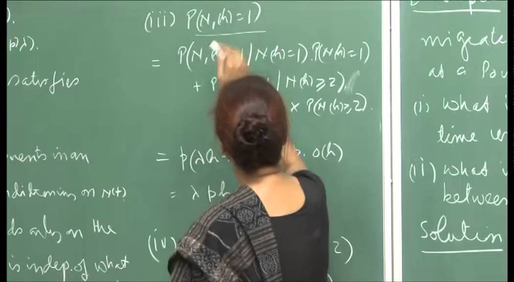 Mod-01 Lec-33 Inter-arrival times, Properties of Poisson processes