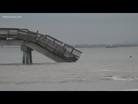 Buckroe Beach Fishing Pier Collapsed After Barge Crashes Into It