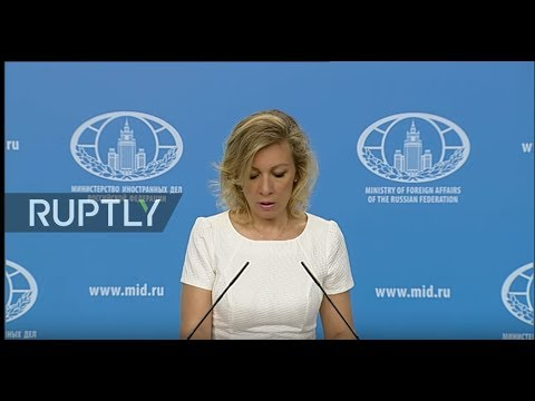 LIVE: Zakharova holds weekly briefing in Moscow - ENGLISH