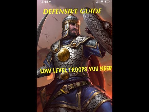Clash Of Kings - Defensive Hero & Best Troops (Defence Guide)