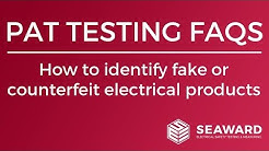 How to identify fake or counterfeit electrical products - Seaward