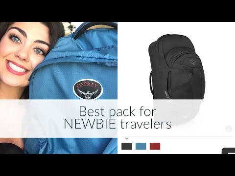 Osprey Farpoint 55 review for NEW travelers!