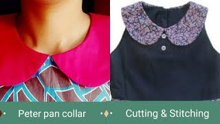 Peter pan collar cutting and stitching