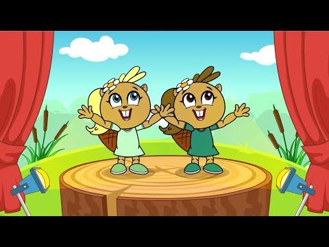 """Танцевальная детская песня """"Бобры добры"""" - Mini Disco детский развивающий мультик песенка 0+"""