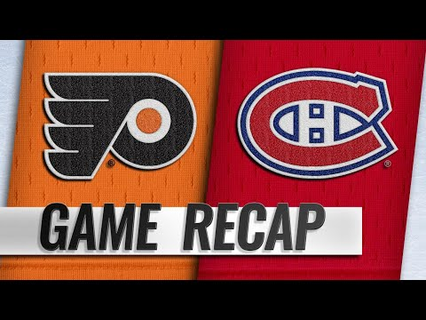 Gallagher's first hat trick leads Canadiens by Flyers