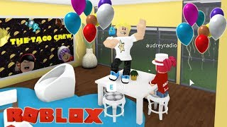 It's My Birthday and things get CRAZY! The Crew Mansion Roblox Bloxburg Role-play
