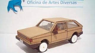 Carro de papelão ( gol quadrado)
