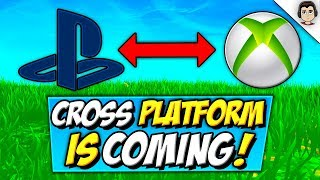 Fortnite CROSS PLATFORM PS4 XBOX IS HERE! Cross Play CONFIRMED Coming To Fortnite Battle Royale