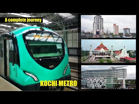 A ride on Kochi Metro | Viewing Kochi in a new perspective | A complete journey