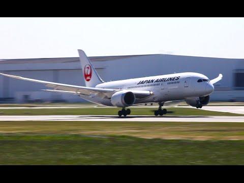 Japan Airlines 787-8 Dreamliner Landing at YVR