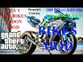 GTA V 100 New Super Bikes Add-On Compilation Pack