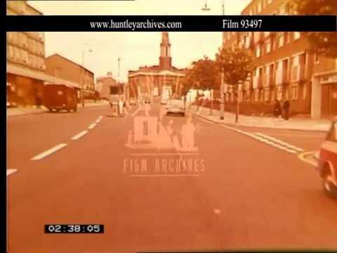 Albany Street In Camden, London In 1968.  Archive Film 93497