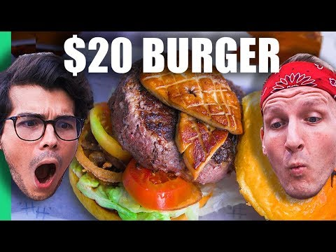 50垄 Burger Machine VS $20 Burger in Manila, Philippines! (w/ Erwan Heussaff)