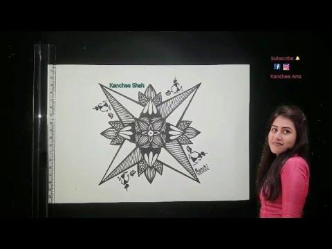 Warli Painting / Mandala Art / Square mandala / Tribal Art / Folk Art / Pen work /Kids and Beginners