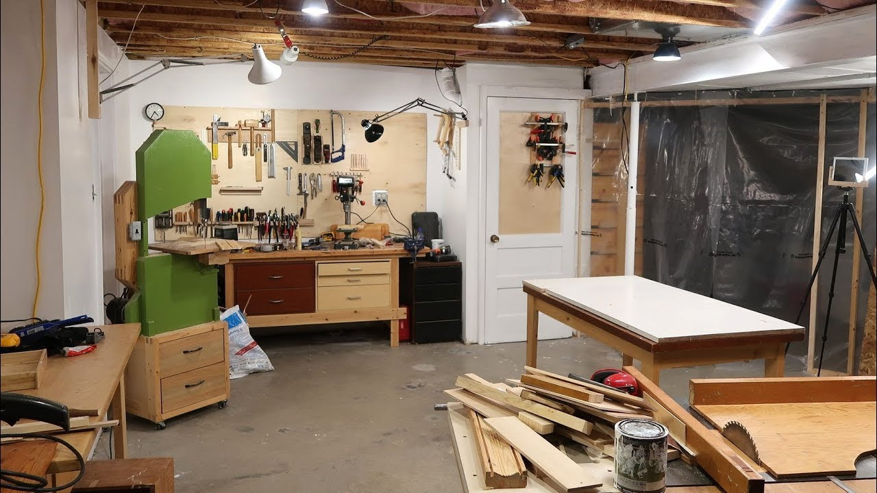 Setting up the basement workshop youtube for Basement design tool