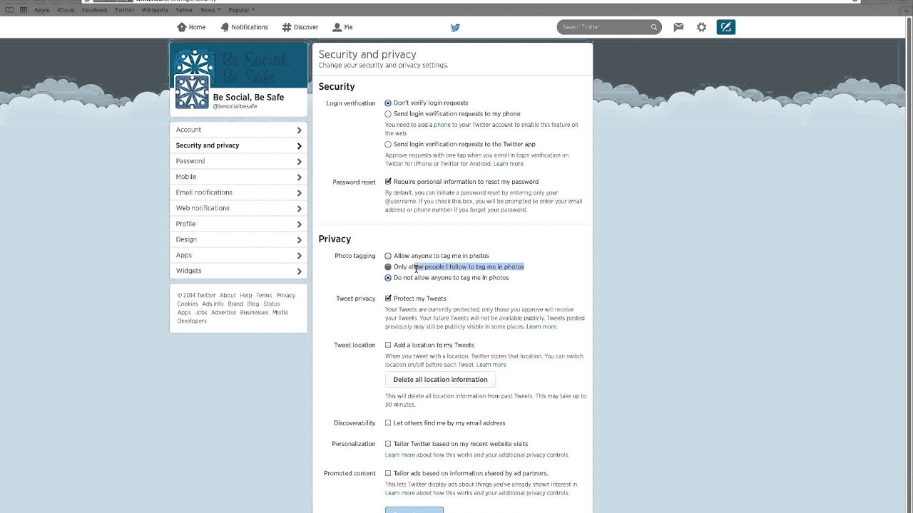 twitter privacy Study in the states will use this twitter page for external relations (communications/outreach/public dialogue), to make information and services widely available to.