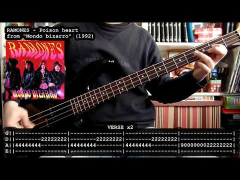 RAMONES - Poison heart (bass cover w/ Tabs)