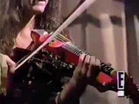 Mark Wood BEST HEAVY METAL VIOLINIST performs Monkeybats on E! TV