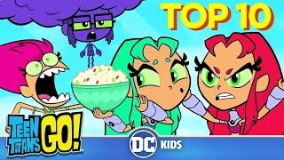 Teen Titans Go! | Top 10 Starfire Transformations |  DC Kids