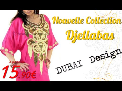 nouvelle collection djellaba femme pas cher dubai design par orientaldiscount net youtube. Black Bedroom Furniture Sets. Home Design Ideas