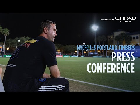 PRESS CONFERENCE | NYCFC 1-3 Portland Timbers | August 1, 2020