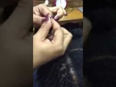 New Dreadlocks Interlocks Started With Plastic EasyLoc Hair Tool - ONLY at EasyLocHairTool.com