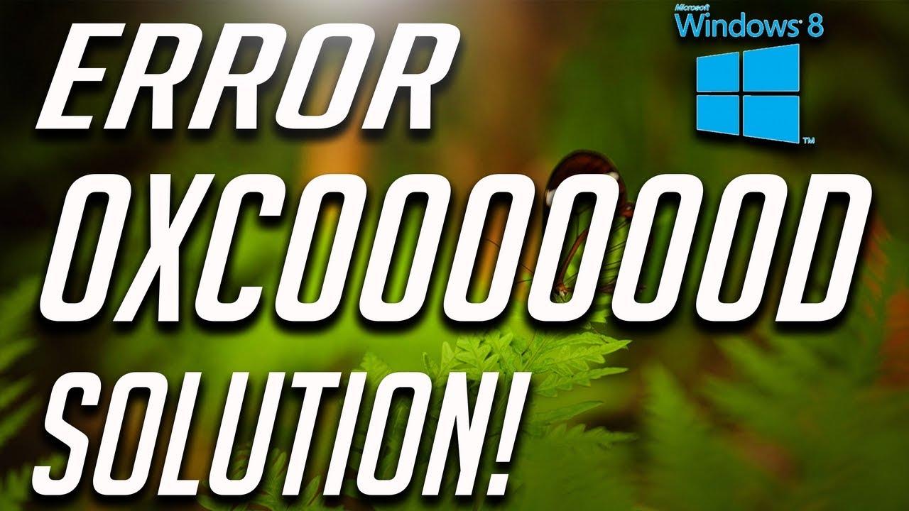 How to Fix Error Code 0xc000000d in Windows 8 / 8.1 - YouTube