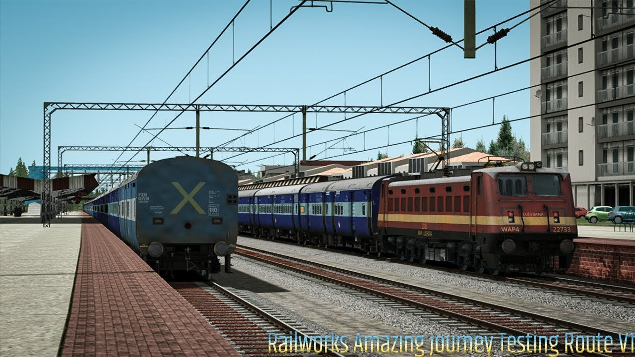 Railworks New Amazing Journey In Testing Route | Train Simulator 2019 |  Indian Railways