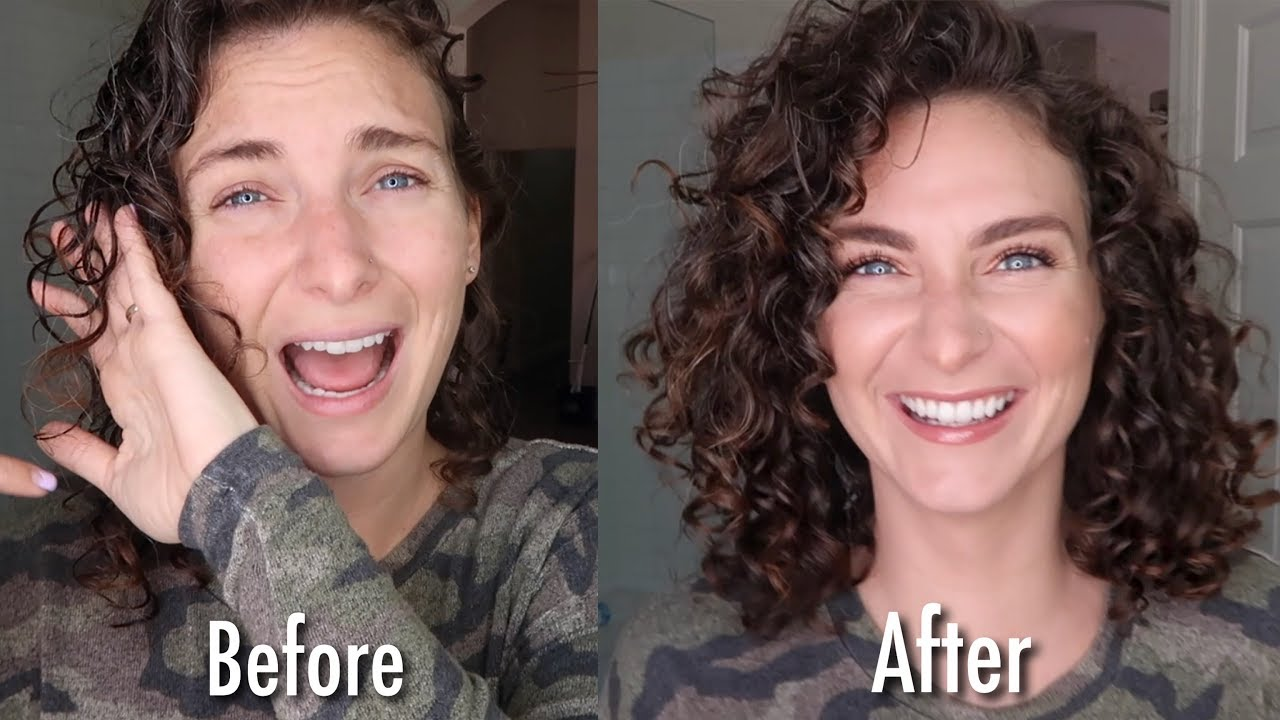 Damp Styling Wavy Curly Hair Jannelle Youtube