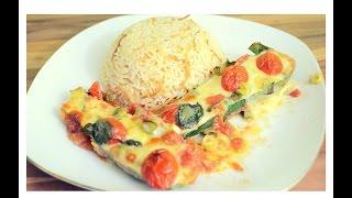 Überbackene Zucchini SCHNELL gemacht! Ideal als Diätrezept!