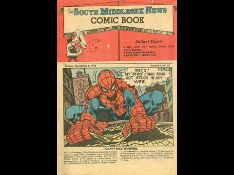 Middlesex News 1978 w/ Spider-Man & Incredible Hulk