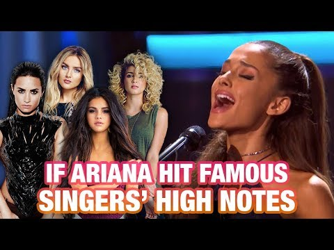 ARIANA GRANDE HITTING FAMOUS SINGERS' HIGH NOTES! (LIVE BATTLE)