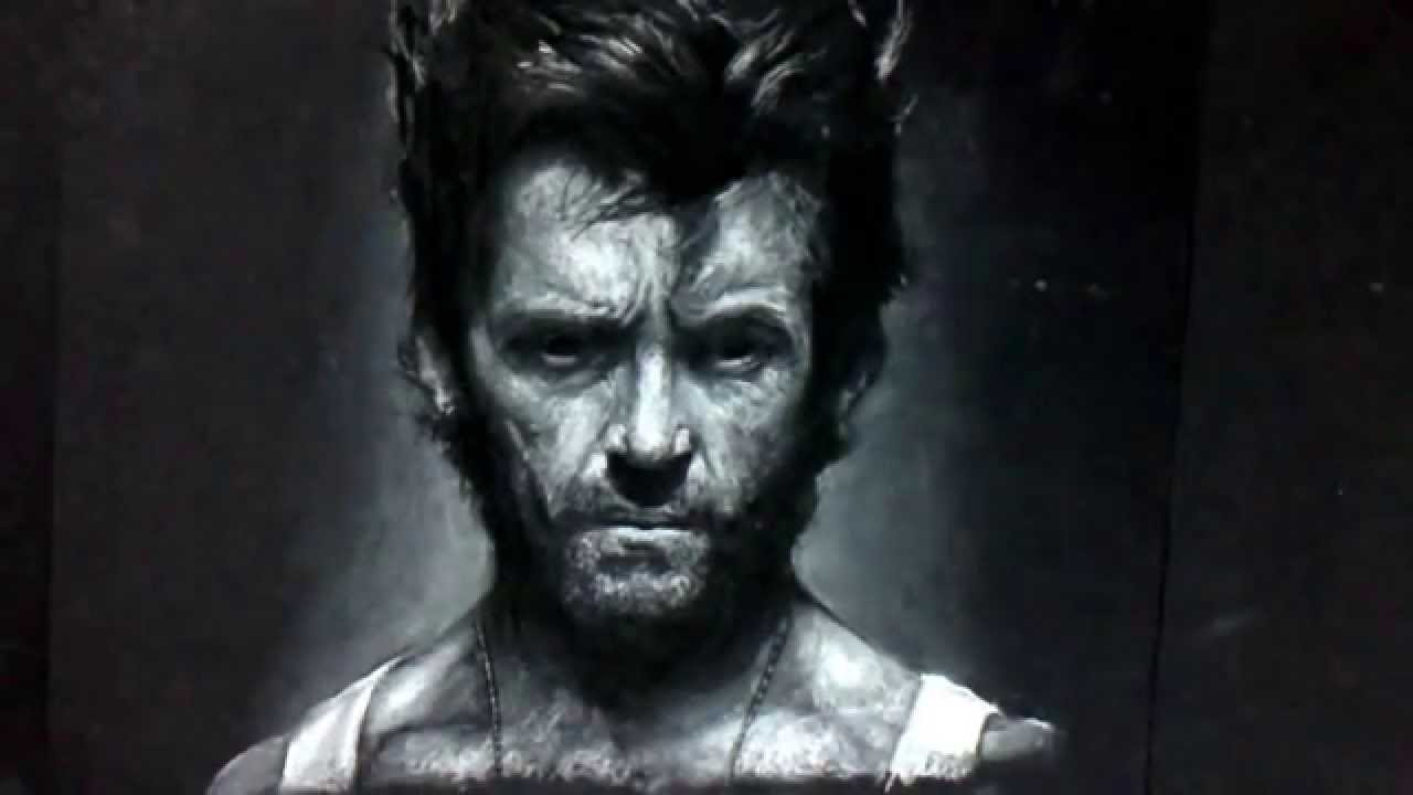How to draw wolverine technique white pastel vf