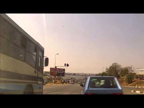 Driving in Swaziland's Route MR3: Mbabane - Kwaluseni - Manzini