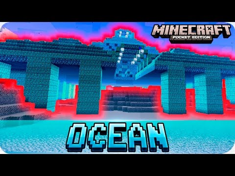 Minecraft PE Seeds - Updated OCEAN MONUMENT / Water Temple Seed - MCPE 1.0 / 0.16.0