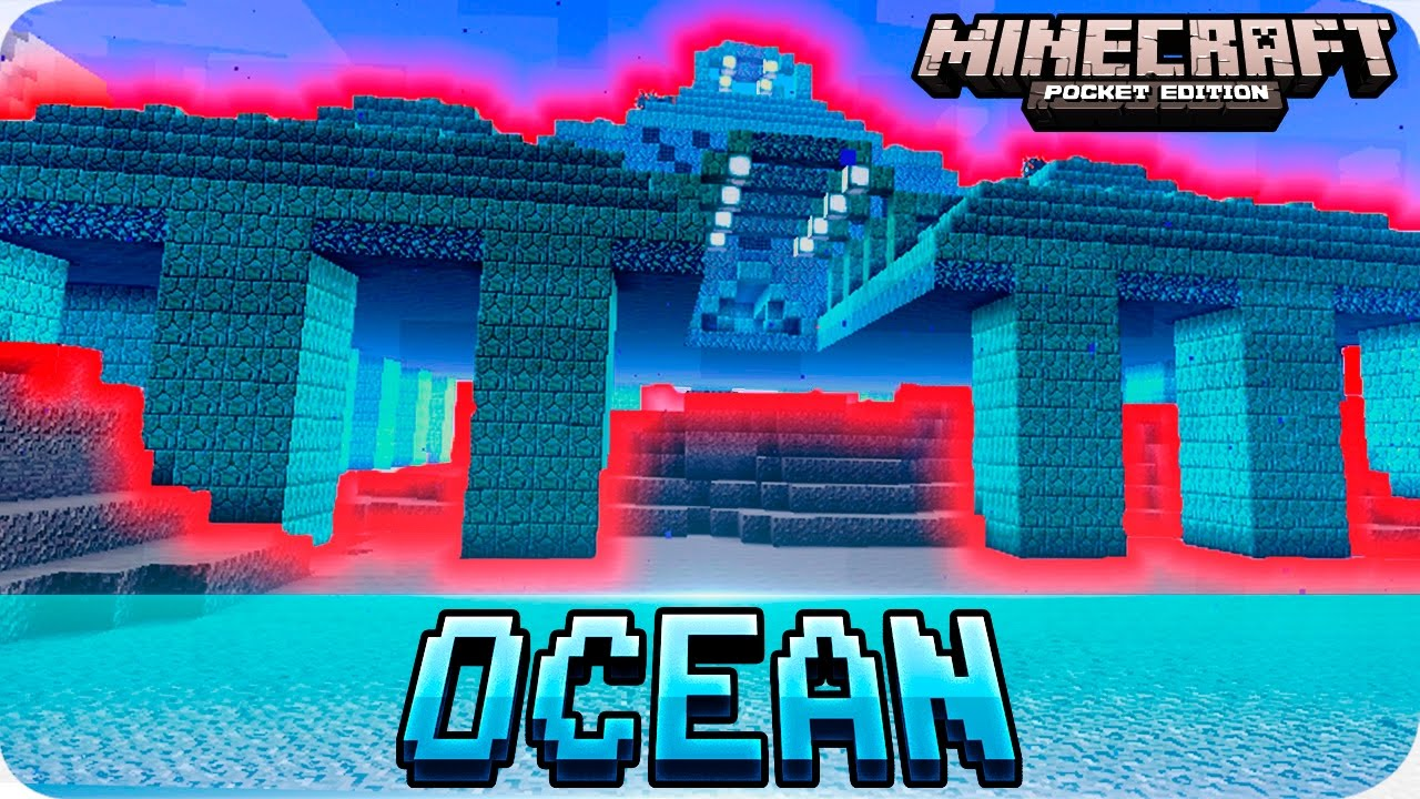 Minecraft PE Seeds - OCEAN MONUMENT / Water Temple Seed - MCPE 11111111.11111111 / 11111111.11111111