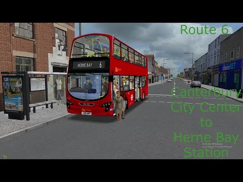 Omsi 2 Canterbury- 6 Canterbury City Center to Herne Bay Station by