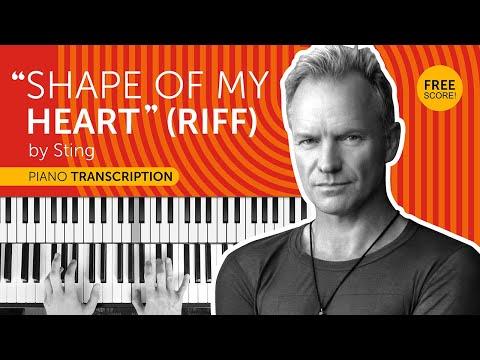 """Shape Of My Heart"" (riff) By Sting - Piano Transcription + Free Score!"