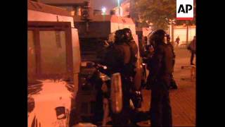 NORTHERN IRELAND: LONDONDERRY: RIOTERS CLASH WITH RUC OFFICERS
