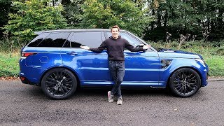 MY NEW RANGE ROVER SPORT SVR! | FIRST DRIVE