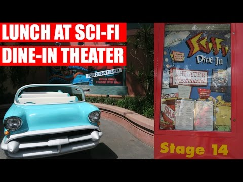 LUNCH AT SCI-FI DINE-IN THEATER | Walt Disney World Vacation September 2016 Day 7, Part 2