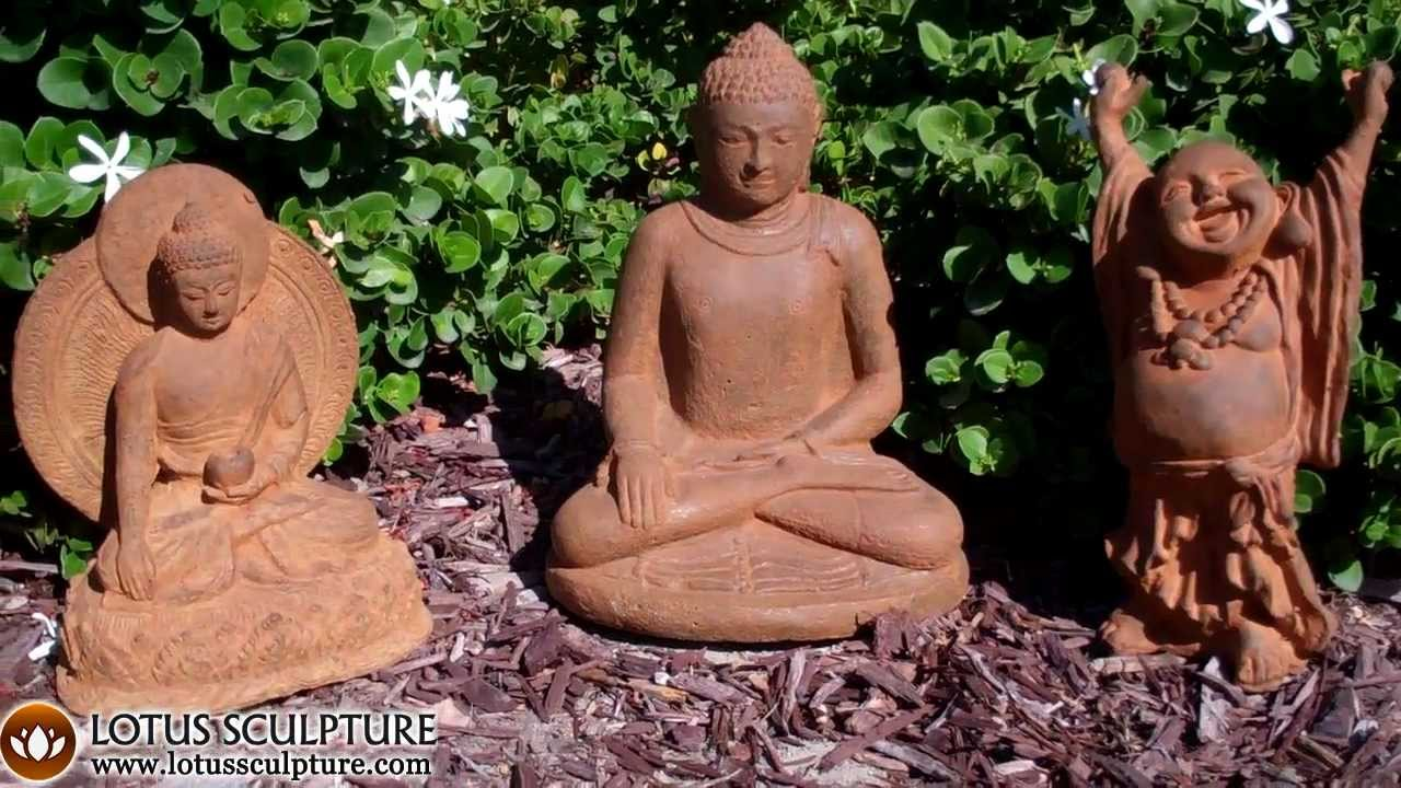 Stone Buddha Garden Statues, Fat Happy Buddha Garden Sculpture