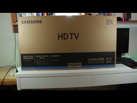 "unboxing Samsung UE32J4000 32"" LED"