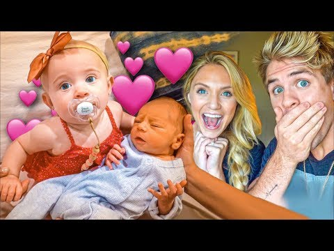 Baby Posie Meets Her Future Husband For The First Time!!! BABY REVEAL