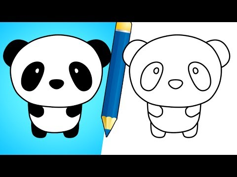 How to draw a cute panda bear