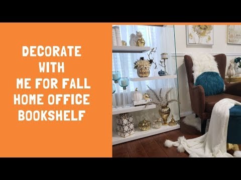 Decorate With Me Fall Home Office BookShelf #glamhome