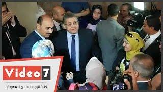 بالفيديو.. وزير التعليم العالى يفتتح مبنى كلية التمريض بجامعة الفيوم