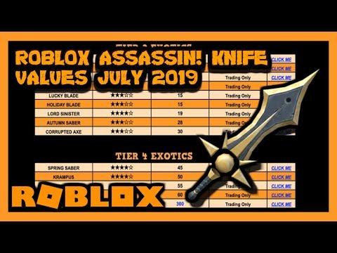 ROBLOX ASSASSIN VALUE LIST JULY 2019 [SUMMER]