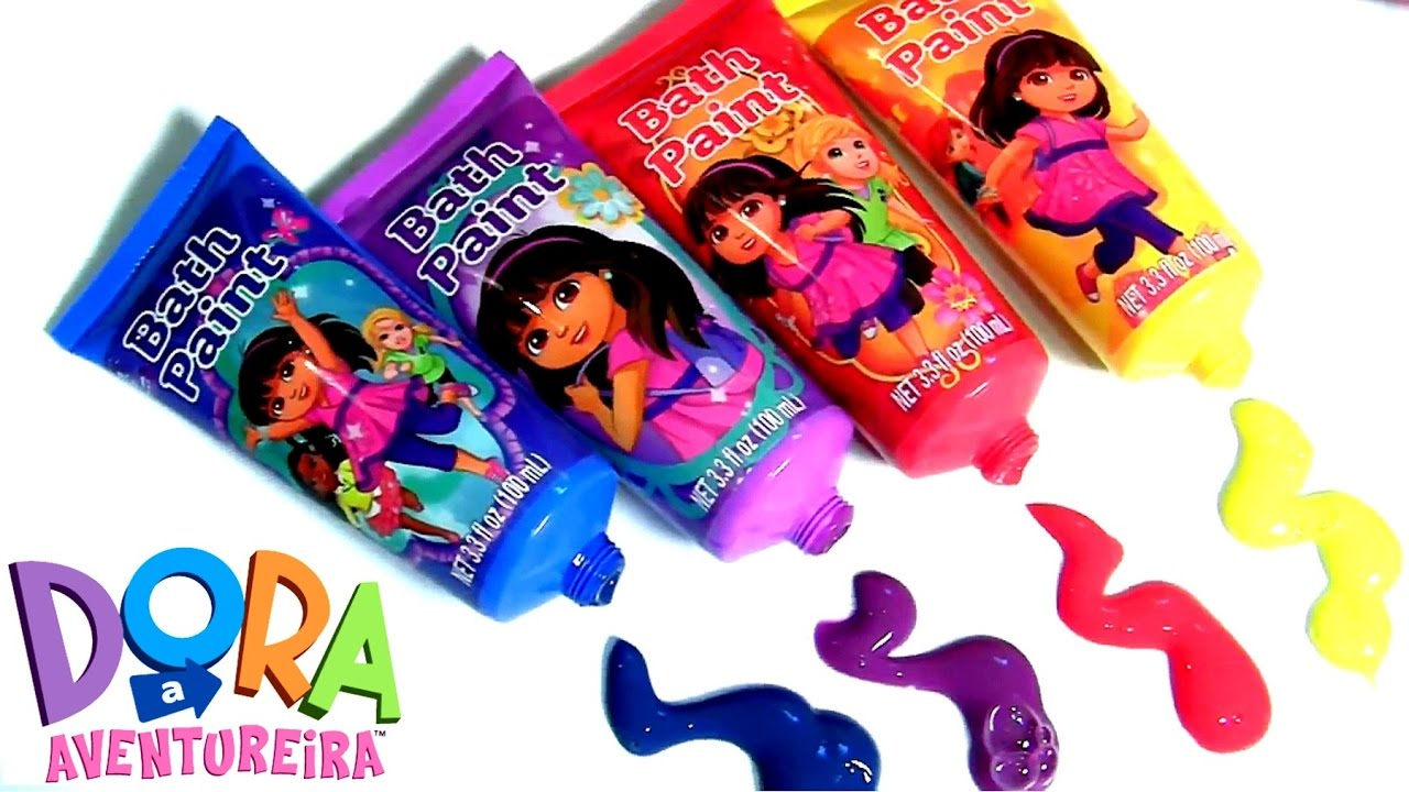 DORA A AVENTUREIRA Tintas de Banho | Learn Colors Dora the ...