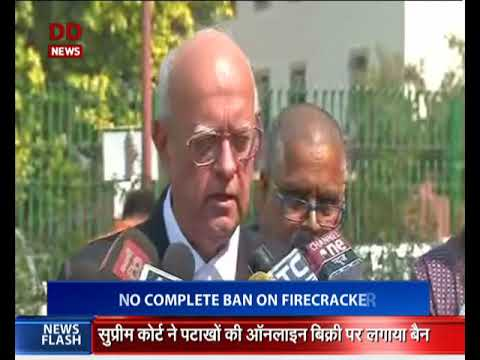 SC: No complete ban on firecrackers